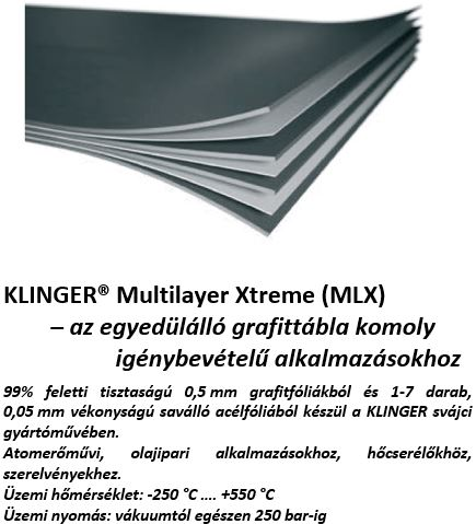 klinger multilayer xtreme MLX grafittábla